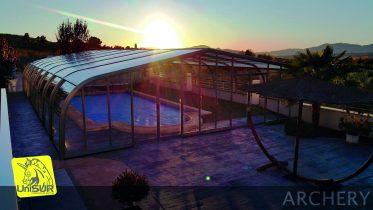 Cubiertas para piscinas UniSUR Cubierta para piscina alta fija Alicante