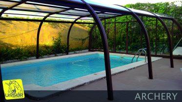Cubiertas para piscinas UniSUR Cubierta piscina alta fija