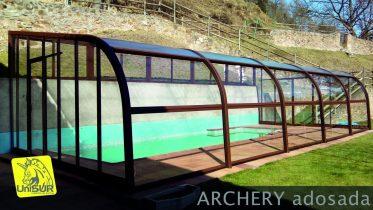 Cubiertas para piscinas UniSUR casa rural con piscina