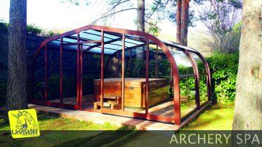cubiertas para piscinas UniSUR Cubierta fija para spa o jacuzzi modelo Archery
