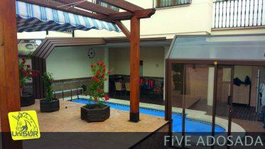 cubiertas para piscinas UniSUR Cubierta adosada para Terraza