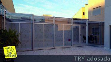 cubiertas para piscinas UniSUR Cubiertas automáticas Para Piscina adosada telescópica