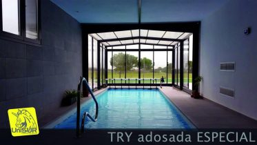 Cubiertas para piscinas UniSUR Cubierta Piscina Adosada telescópica Murcia