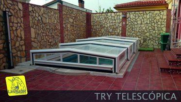 Cubierta para Piscina UniSUR modelo TRY cubierta piscina Segovia