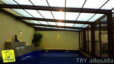 Cubiertas para piscinas UniSUR techos móviles policarbonato