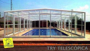 Cubierta para Piscina UniSUR modelo TRY cubiertas móviles para piscina