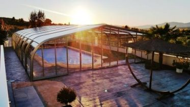 cubiertas altas para piscinas Mallorca
