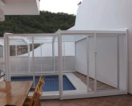 cubierta telescópica para piscina