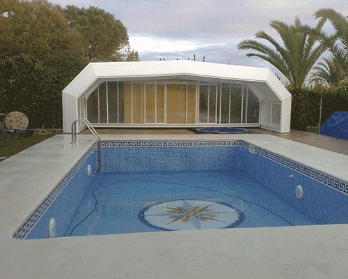 Cubrir piscina finest en piscinas with cubrir piscina for Pipor piscinas