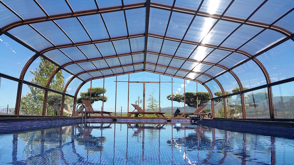 cubierta de piscina forja