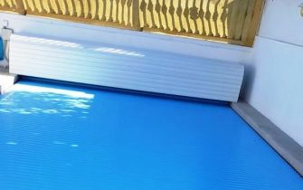 Cubierta plana para piscina