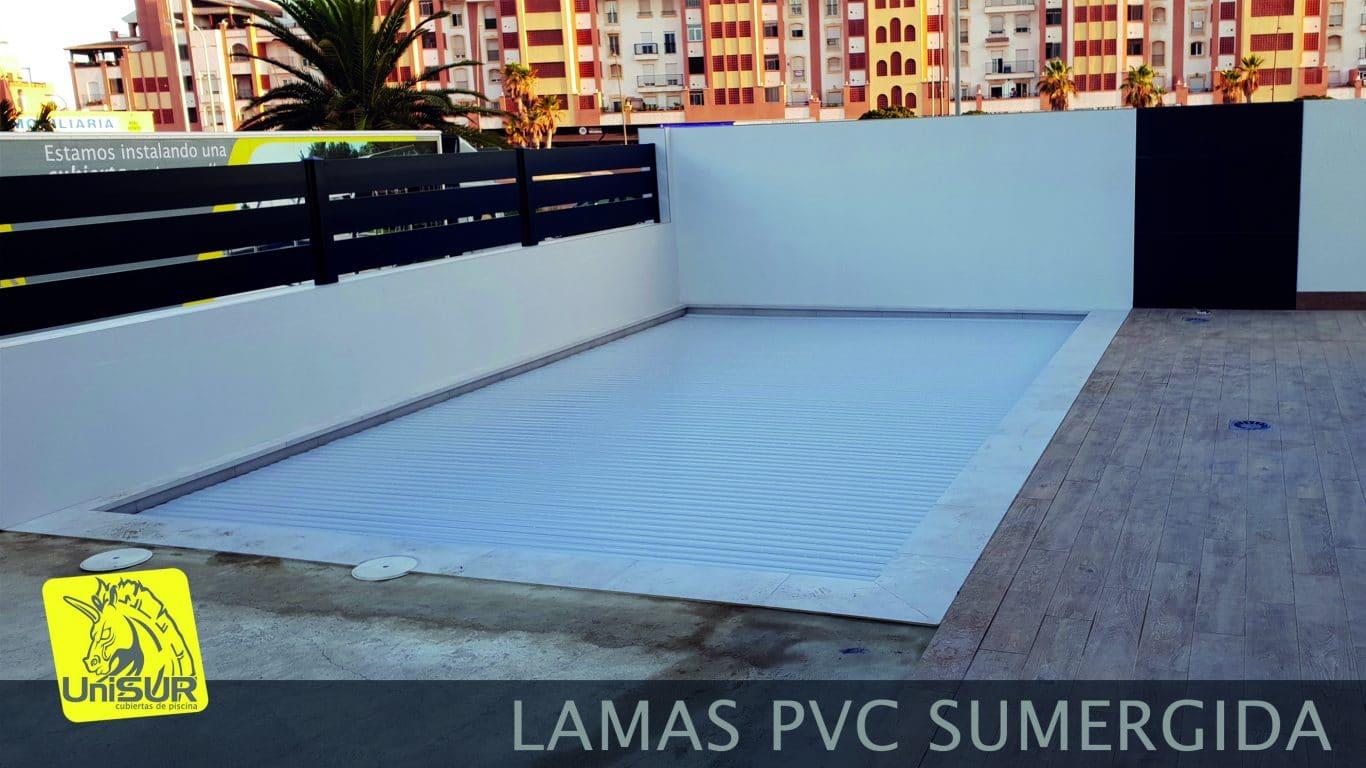 cubiertas para piscinas UniSUR cubierta plana de lamas para piscina Almería