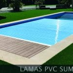 Cubierta para piscina UniSUR plana de lamas sumergida